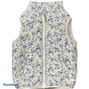 Topomini White Floral Vest Sz 92 or Sz 2